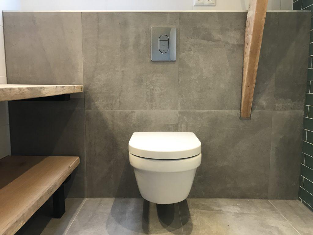 Hangtoilet sanitair tegelwerk - Home Repair - Timmerwerk en onderhoud 01