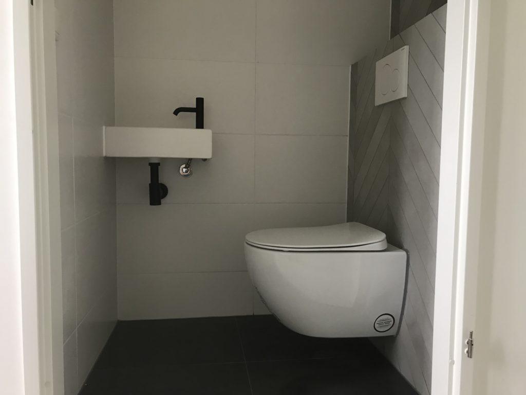 Hangtoilet sanitair tegelwerk Hongaarse punt - Home Repair - Timmerwerk en onderhoud 02