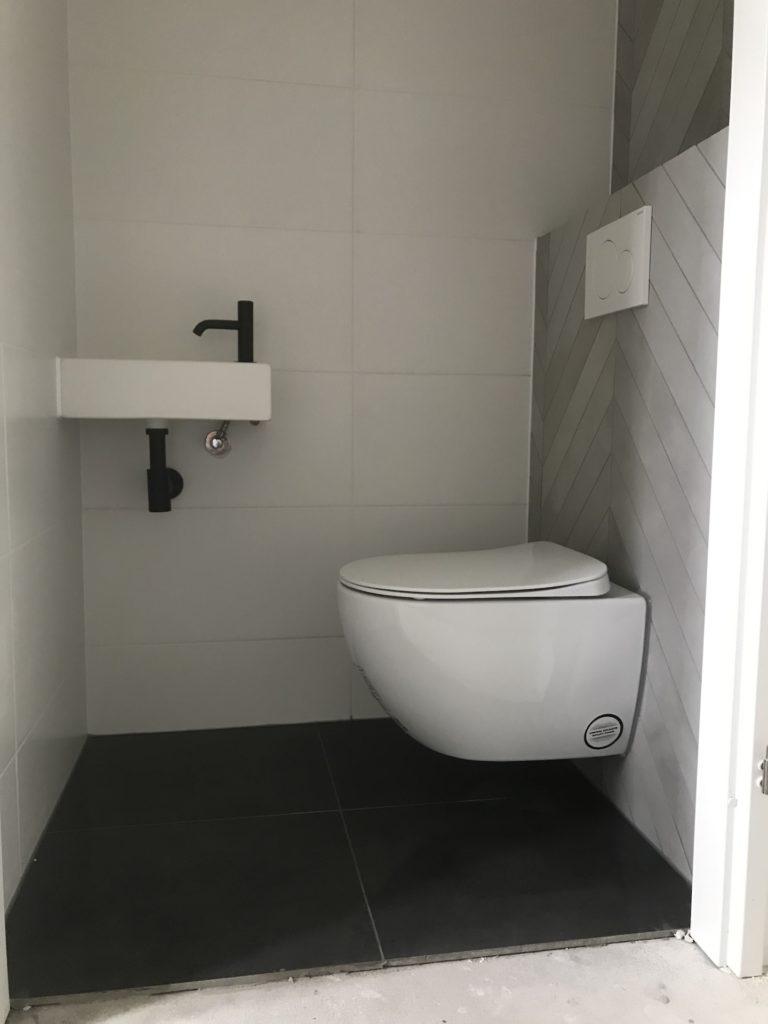 Hangtoilet sanitair tegelwerk Hongaarse punt - Home Repair - Timmerwerk en onderhoud 03